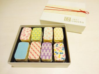 お土産や、プレゼントにも。「京纏菓子 cacoto」のまるで着物を纏ったかのようなスイーツ