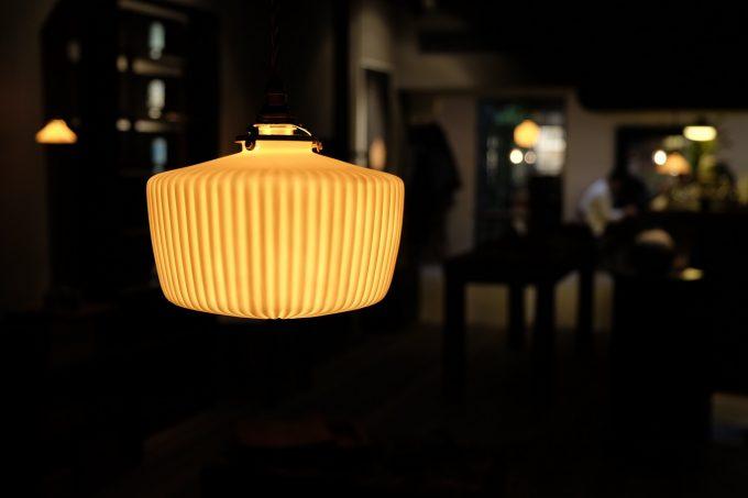 ランプシェードを実際に使っている様子の写真