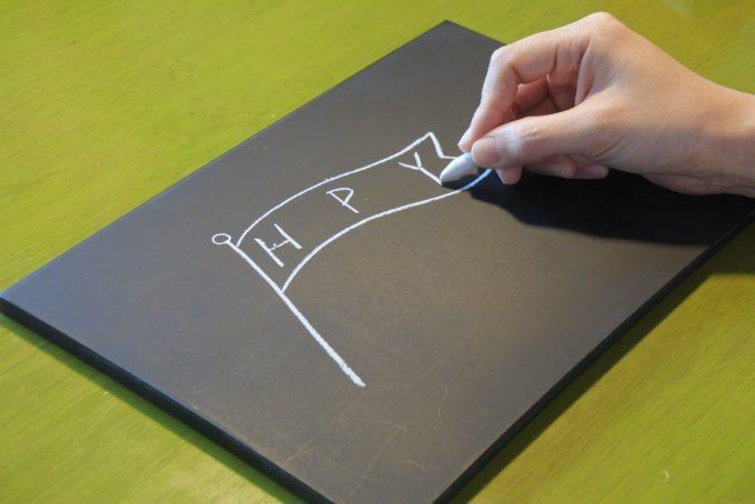 チョークアートボードの描き方2