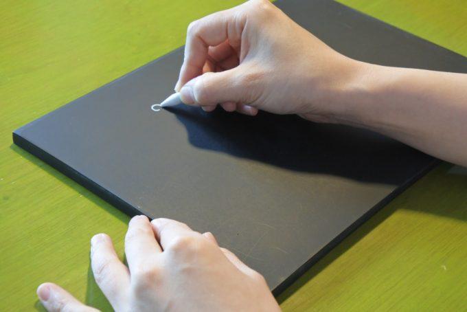 チョークアートボードの描き方1