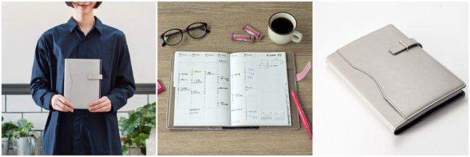 週間バーチカル手帳の写真
