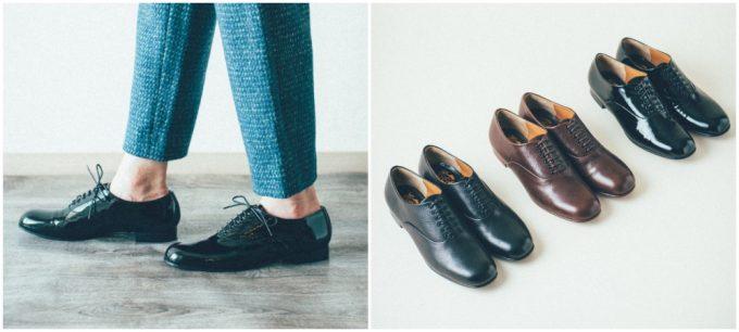 おすすめ革靴ブランド chausserのベーシックなエナメル革靴プレーントゥ