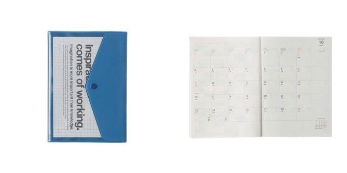 クリアポケットが特徴的なDELFONICSの手帳