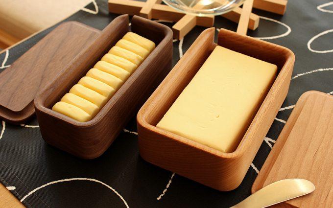 """木製雑貨ブランド「Hacoa(ハコア)」の""""Butter Case(バターケース)"""""""
