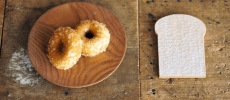 「七穀ベーカリー」のココナッツオイルで揚げた豆乳ドーナツ