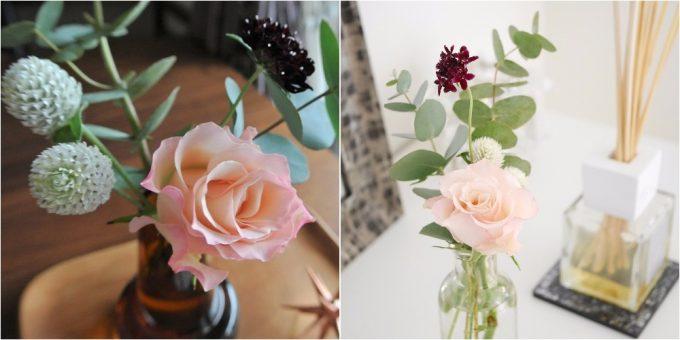 コーディネートされたお花の写真