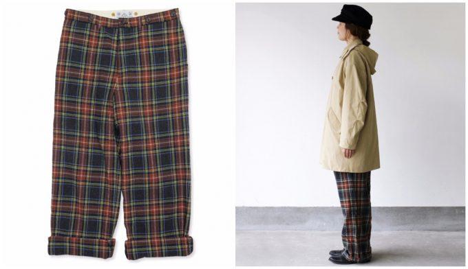 冬コーデにおすすめオールドマンズテーラーのブリティッシュなチェック柄パンツ