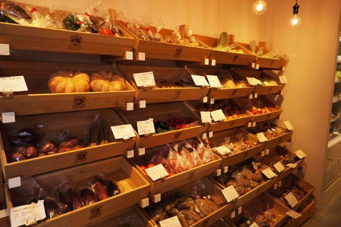 「ベジオベジコ」の店頭に並ぶ野菜