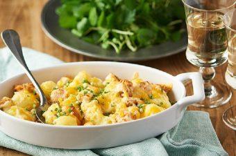 明太子とほくほくじゃがいもが美味しい。「じゃがいもと明太子のマヨチーズ焼き」のレシピ