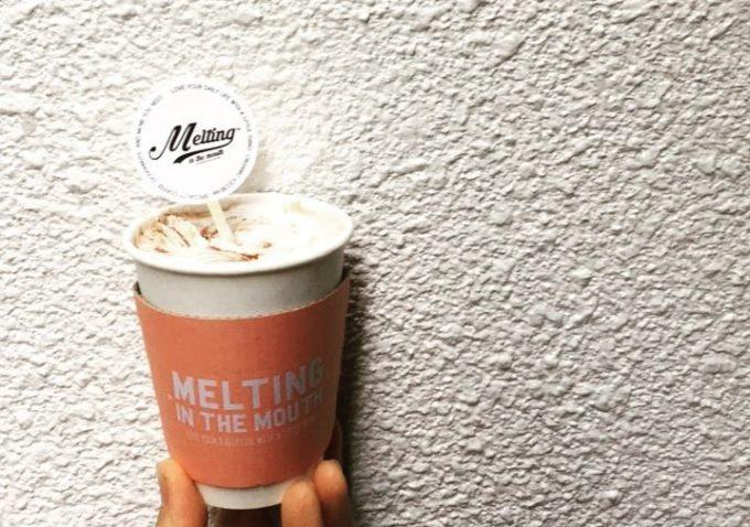 東京・広尾のおしゃれカフェ「メルティング イン ザ マウス」のソフトクリーム