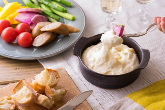 お餅のような食感の「チーズ入りマッシュポテト」