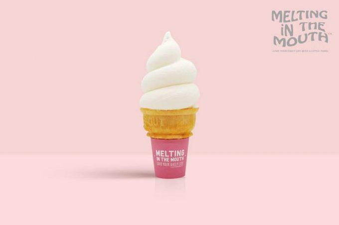 東京・広尾のおしゃれカフェ「メルティング イン ザ マウス」のソフトクリーム2