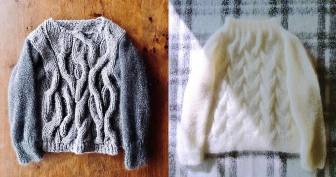 「amuhibi knit」のセーター2着