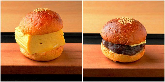 「knot café」の『出し巻きサンド』と『あんバターサンド』の写真