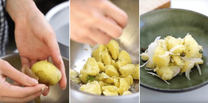 簡単レシピ「玉ねぎのポテトサラダ」の料理風景