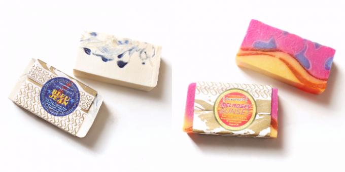 Soaptopia(ソープトピア)の美しくて香り高い石鹸2種