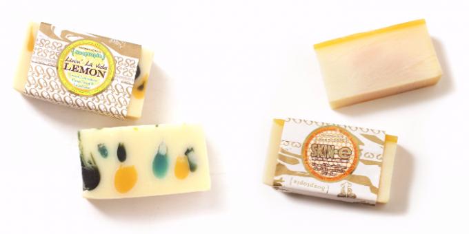Soaptopia(ソープトピア)の美しくて香り高柑橘系の香りのCITRUSシリーズ石鹸2種