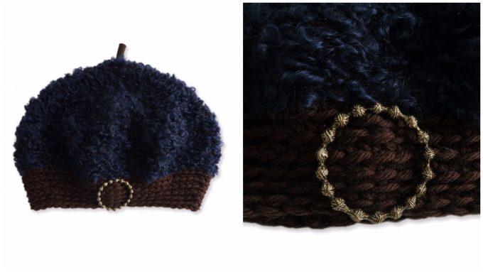 おすすめニット帽、素材感が可愛いニットベレー帽
