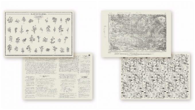 裏表でデザインが異なる「GRAPHIC NEWSPAPER」の写真
