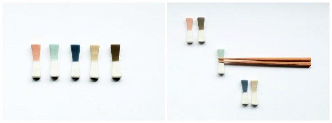KANEAKI SAKAI POTTERYの箸置きの写真