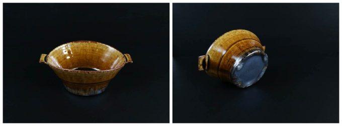 河内啓さんのアメ釉スープカップの写真