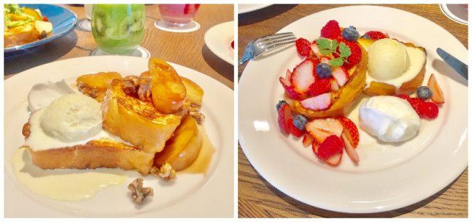 フルーツを使った「TOASTY'S」のフレンチトーストの写真
