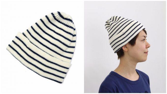 maillot(マイヨ)のボーダーニット帽の写真