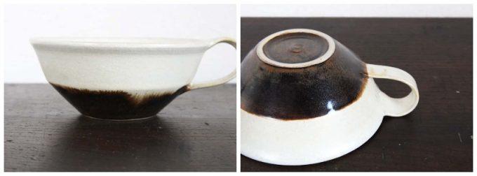 後藤奈々さんの掛分けスープカップの写真