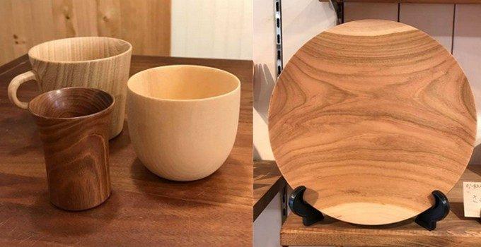 両国駅にある「Tree Nuts(ツリーナッツ)」の木製マグカップや木製プレート