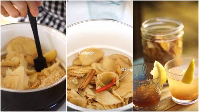 生姜の冷え性対策レシピ「レモンたっぷり自家製ジンジャーエール」の写真