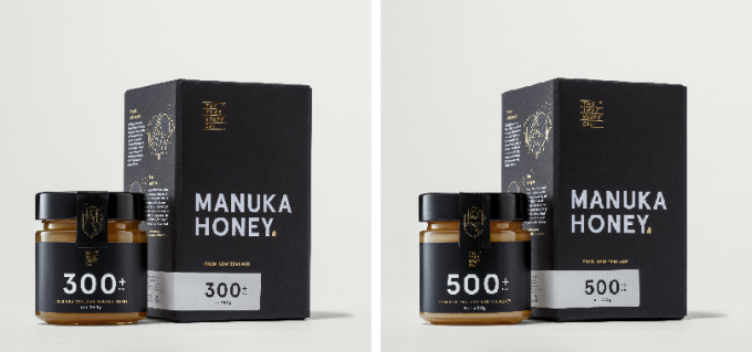 THE TRUE HONEY CO. マヌカハニー MGO300+とMGO500+