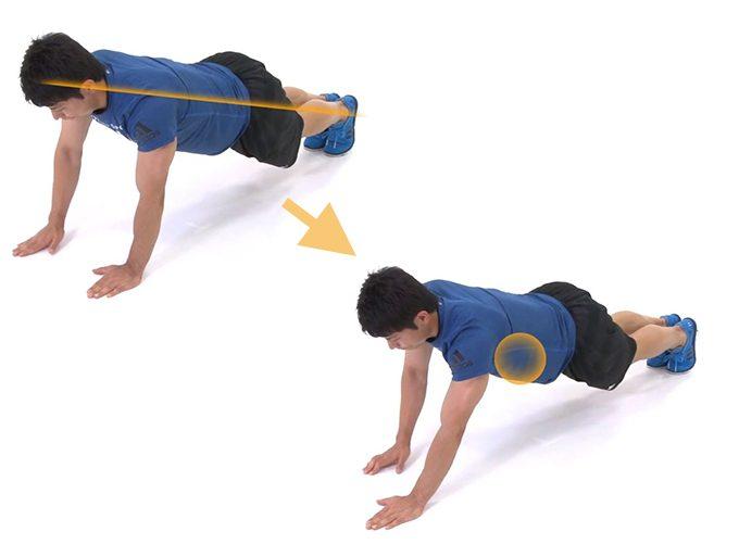 基本の体幹トレーニング「プランク」の応用編「プランクウォーク」