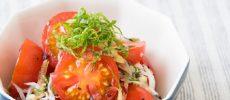 「トマトのしらす和え」の写真