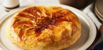 フライパンで作る大満足ケーキ。キャンディのような食感の「焼きりんごケーキ」のレシピ