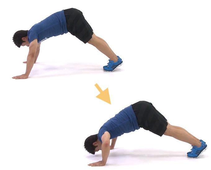 胸元やお腹・二の腕の引き締めが同時に叶う。「プッシュアップ」<5選>