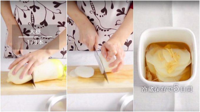 生姜の冷え性対策レシピ「大根と生姜のナンプラー漬け」の写真