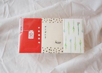 よく見ると小さな刺繍が!もらう側にもあげる側にも小さな幸せを届ける「buchi」のポチ袋
