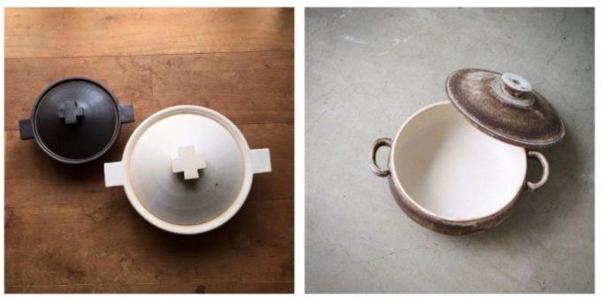 おすすめ土鍋、陶芸作家 内田可織さんの素敵な土鍋とシチュー鍋