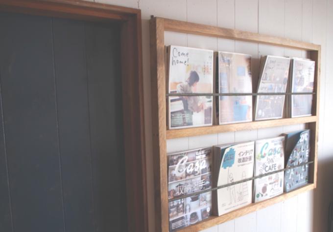 箱屋CRAFTのおしゃれな壁掛けマガジンラックのあるお部屋