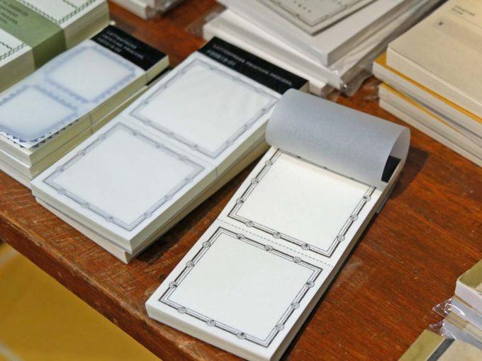 文具店「ハルカゼ舎」で扱っているメモ帳の写真