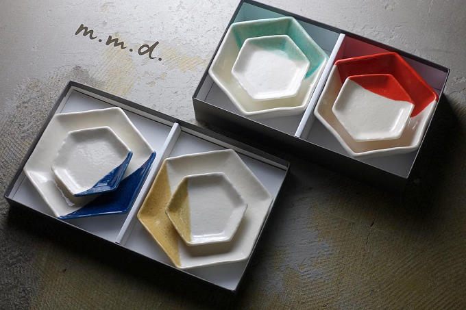 オリジナルの瀬戸焼ブランド「m.m.d.」のお皿たち