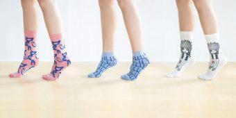 履き心地にこだわり続けた靴下屋×167人のデザイナー。個性的な靴下の展示会が開催中