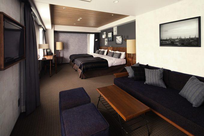 「HOTEL THE KNOT YOKOHAMA」の1室の写真