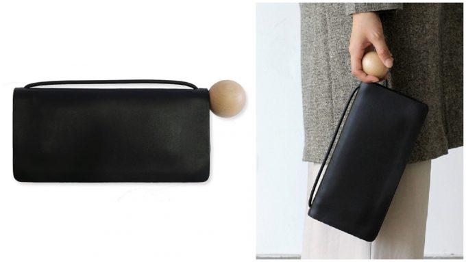 黒のスタイリッシュでおしゃれな革の長財布