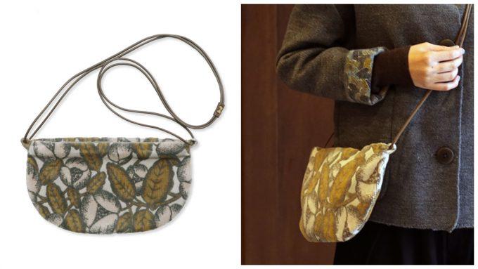 「クッペ」の形をした「ミナペルホネン」のショルダーバッグ