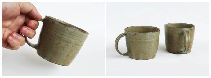 町田裕也さんの作品、モスグリーンのマグカップ