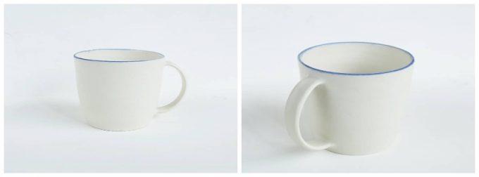 町田裕也さんの作品、ふちブルーのマグカップ