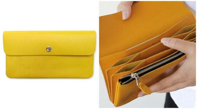 色鮮やかなカラーのスタンダードサプライ革長財布