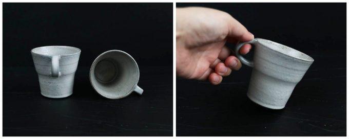 寺田昭洋さんの作品、ひとつ指 マグカップ