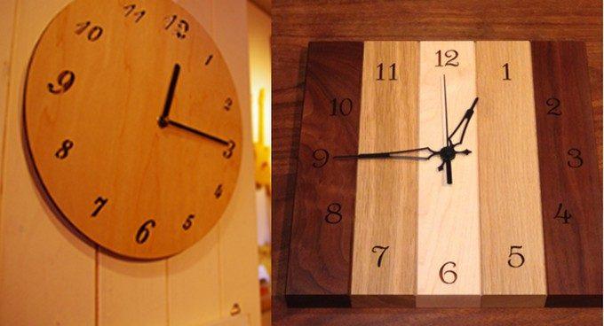 両国駅にあるTree Nutsのシンプルな木製壁掛け時計
